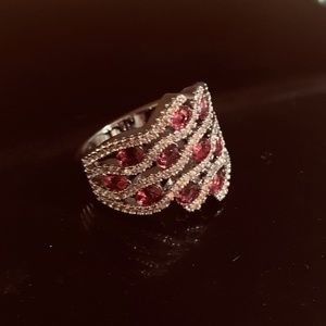 Jewelry - 925 Silver Filled Round Cut Ruby Birthstone